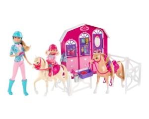 Barbie Pferdestall 2 Barbies 2 Fohlen