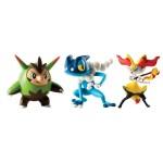 Pokemon-Figur Quilladin, Frogadir und Braixel